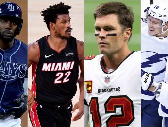 Randy Arozarena, Jimmy Butler, Tom Brady y Tampa Bay Lightning