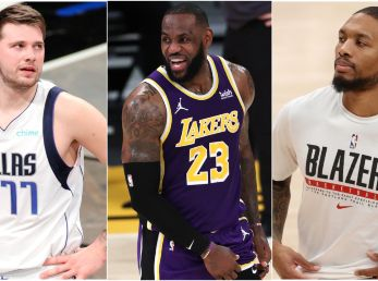 Luka Doncic LeBron James y Damian Lillard (Fotos: Getty)